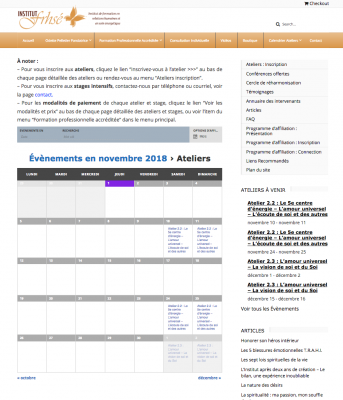 Institut F.R.H.S.É: Event Booking Calendar - Click on any date with an event & you are redirected to event description page