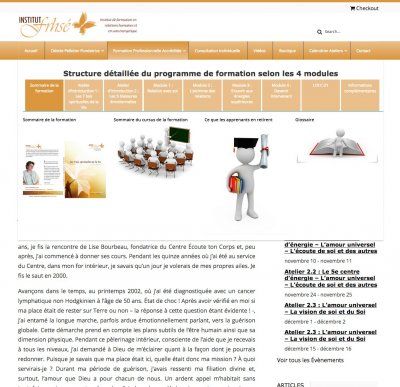 Institut F.R.H.S.É: Mega Menu - Complex Mega Menu with imagesYou can see under the following menu, a sophisticated menu application (useful for an elaborate website) Menu item ; Formation Professionnelle Accréditée