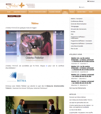 Institut F.R.H.S.É: Video Page