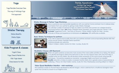 Penka Yoga & Thai Massage Website