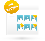 Products badge system