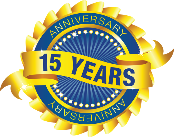 15 Year Anniversary Seal