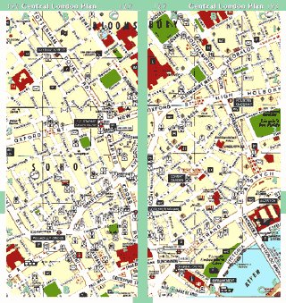 London Map with buses